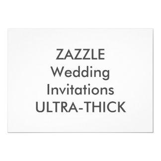 "ULTRA-THICK 7"" x 5"" Wedding Invitations"