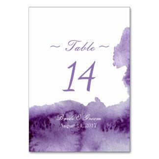 Ultra Violet Elegant Watercolor Table Number