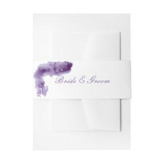 Ultra Violet Elegant Watercolor Wedding Invitation Belly Band