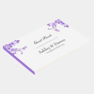 Ultra Violet Floral Design Wedding Guest Book