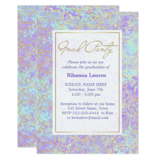 Ultra Violet Shimmer Graduation Party Card