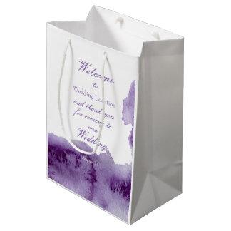 Ultra Violet Vintage Elegant Watercolor Wedding
