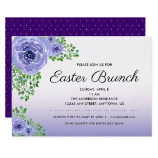Ultra Violet Watercolor Floral   Easter Brunch Card