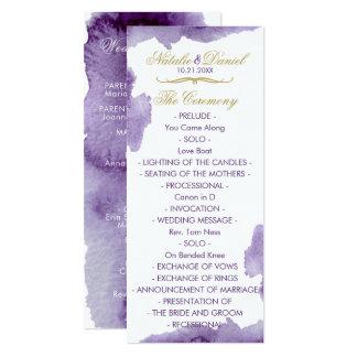 Ultra Violet Watercolor Wedding Program