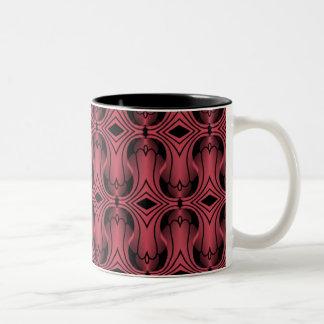 Ultramod Art Deco Mug, Magenta Two-Tone Coffee Mug