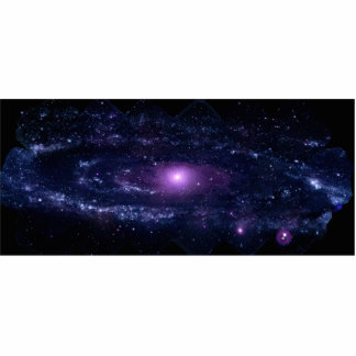 Ultraviolet Purple Andromeda Galaxy Space Cut Outs