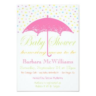 Umbrella Baby Shower Invitations