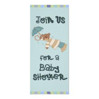 Umbrella Bear Baby Shower Card