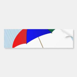 Umbrella In The Rain Bumper Sticker
