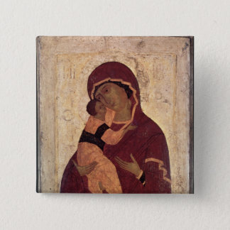 Umilenie Virgin of Wladimir, Moscow School 15 Cm Square Badge