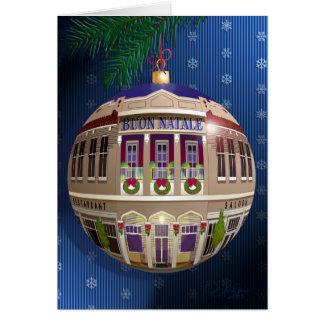 Un Ornamento di Buon Natale-Blu Card