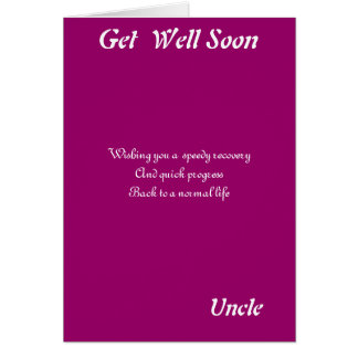 Uncle get well soon cards