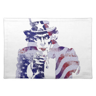 Uncle Sam America USA National Flag Independence D Placemat