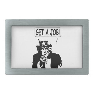 Uncle Sam Get A Job Rectangular Belt Buckle