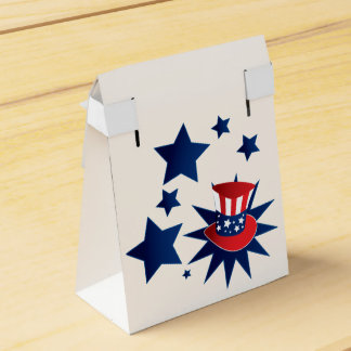 Uncle Sam hat and stars Favour Box