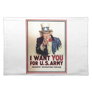 Uncle Sam - I Want You Placemat