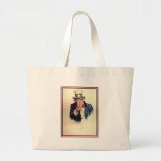 Uncle Sam Poster Large Tote Bag