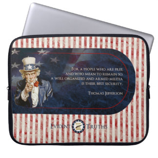 Uncle Sam - Thomas Jefferson Laptop Sleeve