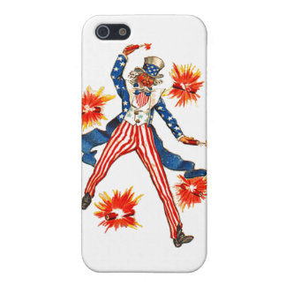 Uncle Sam USA Vintage 4th of July Postcard Art iPhone 5/5S Case