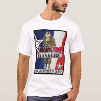 Uncle Sam Wants Rangers Now T-Shirt
