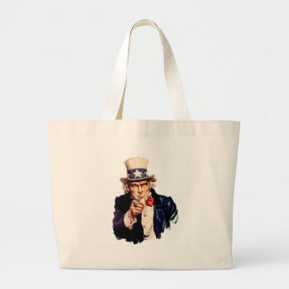 Uncle Sam Wants You! Large Tote Bag