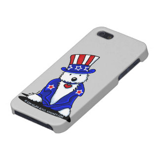 Uncle Sam Westie iPhone 5/5S Cover