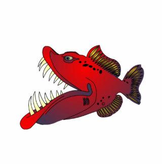"""Uncle Steevo"" Fish with Attitude Photo Sculpture Badge"