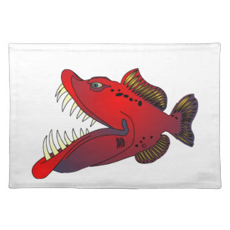 """Uncle Steevo"" Fish with Attitude Placemat"
