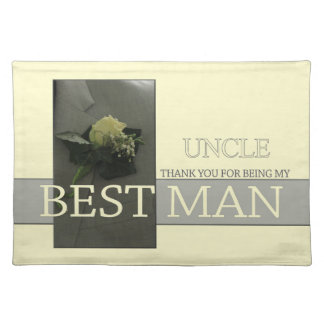 Uncle thank you best man - invitation placemat