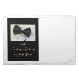 Uncle thank you best man placemat
