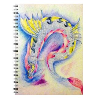 Under Sea Dragon Spiral Note Book