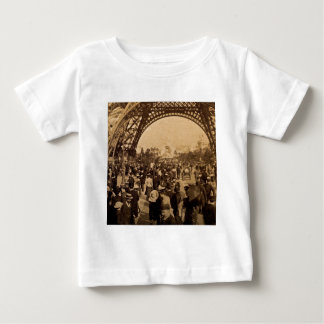 Under the Eiffel Tower 1900 Paris Expo Vintage Baby T-Shirt