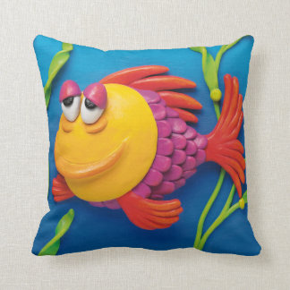 Under the Sea Fish Baby Boy Shower Nursery Cushion