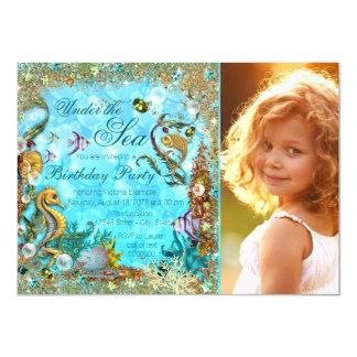 Under the Sea Photo Birthday Party 11 Cm X 16 Cm Invitation Card
