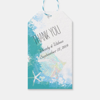 Under the Sea Turquoise Thank You Favor