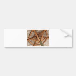 under the tiki bumper sticker