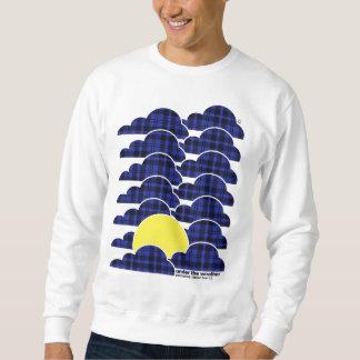 Under The Weather- White Sweat Pullover Sweatshirt