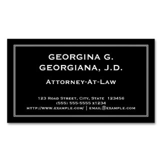 Understated Attorney-At-Law Magnetic Business Card Magnetic Business Cards
