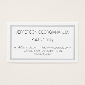 Understated Public Notary Business Card