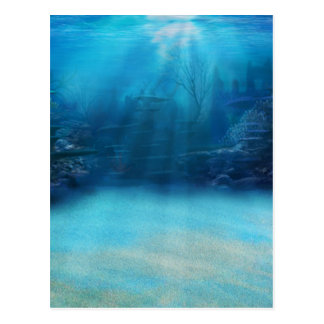 Underwater Coral Reef Towers Postcard