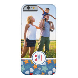 Underwater Life Pattern| Your Photo & Monogram Barely There iPhone 6 Case