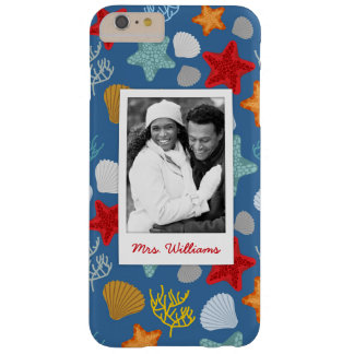 Underwater Life Pattern | Your Photo & Name Barely There iPhone 6 Plus Case