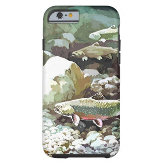 Underwater trout fishing scene tough iPhone 6 case