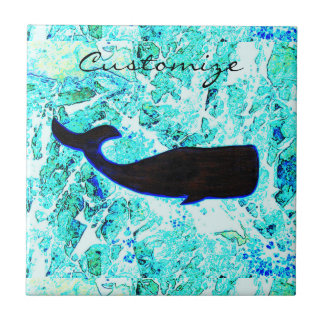 underwater whale swimming Thunder_Cove Tile