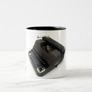 Underwood Leader typewriter Two-Tone Coffee Mug