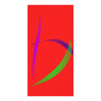 Unfettered Scarlet Abstract Art Picture Card