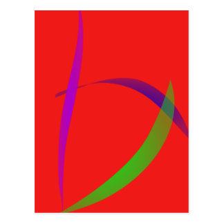 Unfettered Scarlet Abstract Art Post Card