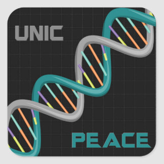 Unic Peace Square Sticker