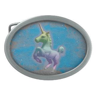 Unicorn Belt Buckle (Blue Nebula)