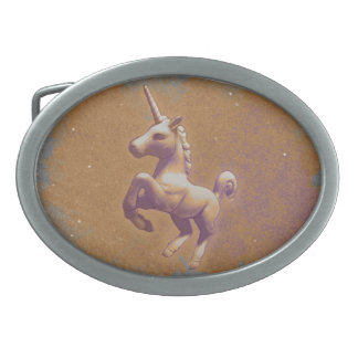 Unicorn Belt Buckle (Metal Lavender)